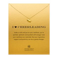 """#Dogeared i love #heart cheerleading megaphone gold dipped 16"""" boxed #necklace,  View more on the LINK: http://www.zeppy.io/product/gb/2/381582250581/"""