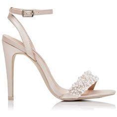 Forever New Renza Pearl Heel (52,640 KRW) ❤ liked on Polyvore featuring shoes, sandals, heels, cipele, sapato, blush, heeled sandals, high heel sandals, forever new and pearl shoes