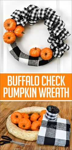 If you guys have seen my front porch, you might remember that I have two super cute black and white patterned outdoor rugs. Well I really do love them and decided this Fall I would incorporate them into my Fall front porch design. Then I thought a cute idea would be buffalo check mixed in …
