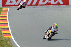 Karel Hanika reversed his Race 1 disaster with victory in Race 2 at the Sachsenring on Sunday while his great Red Bull MotoGP Rookies Cup rival Jorge Martin crashed out on the penultimate lap handing back the 25 points he had taken the day before. - See more at: http://superbike-news.co.uk/index.php/Motorcycle-News/red-bull-motogp-rookies-cup-martin-leads-but-hanika-wins-sachsenring-2#sthash.dNI34KqF.dpuf