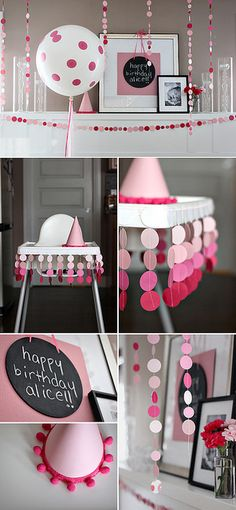 Ombre Circle High Chair Bunting