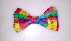 Nerdy Elements of the Periodic Table Hair Bow Clip