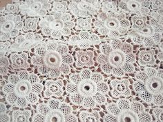 1 yard Width 47.24 inches ivory lace fabricflower embroidered