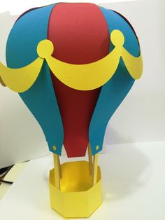 Balão em papel scrap