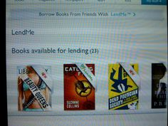 #DailyBookPic Borrowing books: or lending them, via Nook!