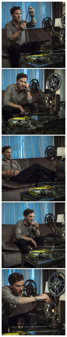 Benedict Cumberbatch <-- can't even describe how much I would LOVE to be curled up on that couch next to him...❤️❤️❤️: