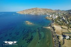 Foinikas, a village on Syros, located in the bay of the homonymous large bay to the southwest of the island. Within walking distance from Foinikas is the small and isolated, picturesque Kokkina beach. Syros Greece, Greek Islands, Greece Travel, Old Photos, Photo S, Beach, Places, Water, Holiday