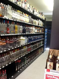 54 best Liquor Store Fixtures images on Pinterest   Liquor store     Handy Store Fixtures black Gondola Shelves for liquor stores