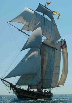 Pride of Baltimore II. The Baltimore Clipper Ship. The most beautiful of all the tall ships. Old Sailing Ships, Us Sailing, Moby Dick, Full Sail, Wooden Ship, Yacht Boat, Tug Boats, Sail Away, Ship Art