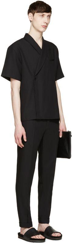 Carven - Black Kimono Shirt