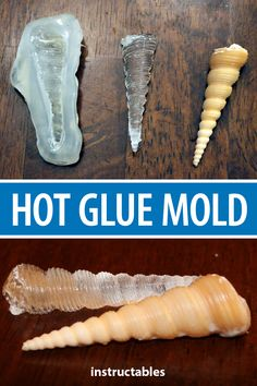 Use hot glue to easily and cheaply make a mold for small cast projects Instructables crafts reuse upcycle casting duplicate sculpture Diy Resin Art, Diy Resin Crafts, Diy Crafts To Sell, Cardboard Crafts, Diy Resin Casting Mold, Resin Glue, Epoxy Resin Art, Ice Resin, Beaded Crafts