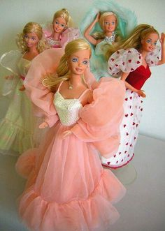 Barbies from the 80s. I remember playing with at least two of these.