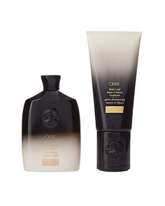 """A favorite for glossy, healthy hair. It contains light oils that really nourish and soften."" Oribe Gold Lust Repair & Restore shampoo and conditioner, from $17 each, oribe.com."