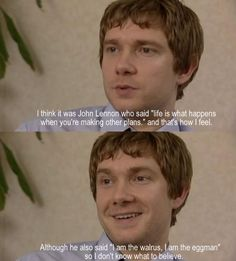 Martin Freeman on John Lennon. Yesss