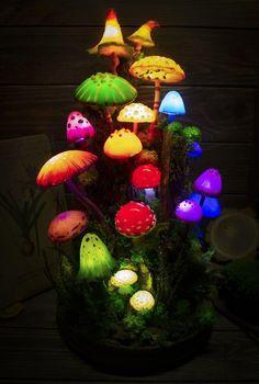 Mushroom Lights, Mushroom Decor, Mushroom Art, Fairy Houses, Room Inspiration, Diy And Crafts, Stuffed Mushrooms, Bedroom Decor, Crafty