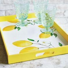 50 Pieces of Dinnerware and Decor Guaranteed to Get Your Table in the Spring Spirit Lemon Kitchen Decor, Kitchen Themes, Lemon Crafts, Plant Shelves, Home Living, Living Rooms, For Love And Lemons, Organizer, Seasonal Decor