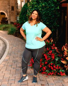 One LIVI Activewear Tee Styled Three Ways   Estrella Fashion Report Jogger Pants, Joggers, Third Way, Mint Color, Plus Size Activewear, Lane Bryant, Outfit Of The Day, Tees, Shirts