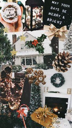 - #christmasaestheticwallpaper - ... Fall Wallpaper Tumblr, Wallpaper Collage, Iphone Wallpaper Vsco, Holiday Wallpaper, Winter Wallpaper, Aesthetic Iphone Wallpaper, Aesthetic Wallpapers, Trendy Wallpaper, December Wallpaper