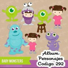 Monsters inc clip art Monster Inc Birthday, Monster Inc Party, Monsters Inc Baby Shower, Disney Frames, Monsters Ink, Monster Pictures, Tsumtsum, Felt Quiet Books, Cute Clipart