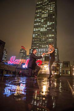 Rooftop Surprise Engagement  #engagement #engagementring #empirestatebuilding #rooftopproposal #proposal #proposal007 #proposalphotography