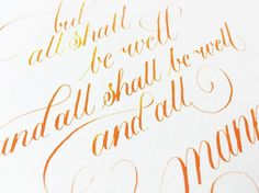 But all shall be well ... I'm doing a version of this quote as a gift so I felt…