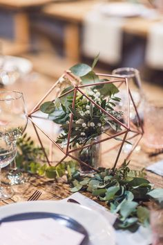 Copper Geometric Industrial Wedding at People's History Museum & Hope Mill Theatre, Manchester Planned by Alternative Weddings MCR Theatre Wedding, Wedding Decorations, Table Decorations, Geometric Wedding, History Museum, Industrial Wedding, Alternative Wedding, Contemporary Decor