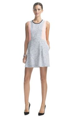 Color Block Tweed Dress by Sea for Preorder on Moda Operandi