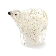 Gold Flecked Polar Bear Figure, Small