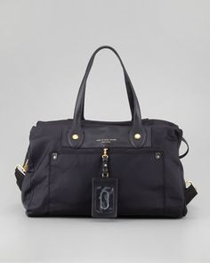 Preppy Nylon Weekender Satchel Bag, Black by MARC by Marc Jacobs at Bergdorf Goodman.