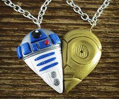 C-3PO R2-D2 Heart Necklace
