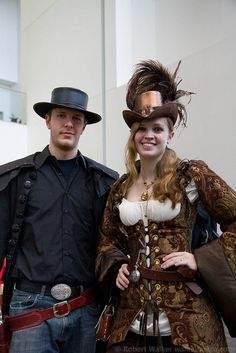 OhayoCon 2012 - Cowboy & Steampunk Lady by walkerspace, via Flickr
