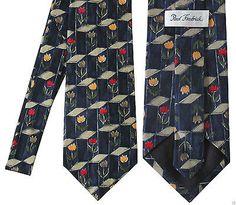 Tulips Flowers Spring Paul Fredrick Silk Necktie Neck Tie
