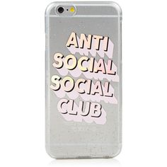 iPhone 6/6S Anti Social Social Club Case ($15) ❤ liked on Polyvore featuring accessories and tech accessories