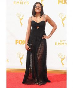 "Taraji P. Henson of ""Empire"" wore Alexander Wang at the 2015 Emmy Awards. Carpets Empire"