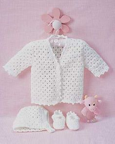 Lacy Set to Crochet - free crochet pattern