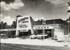 Arlington Theatre - saw a lot of movies there on Saturdays as a child. Atlantic Beach, Jacksonville Florida, Old Florida, Gas Station, Vintage Photographs, Wonderful Places, Sweet Home, Adventure, History