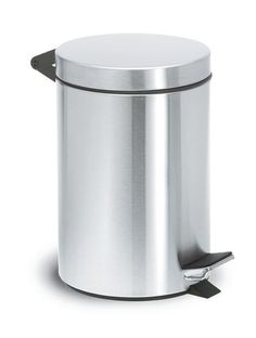 The classic Pedal Bin Wastepaper Basket is a necessary item in any bathroom. The plastic liner can be removed for emptying and cleaning. Trash Bins, Storage Bins, Stores, Basket, Modern Design, Cleaning, Plastic Bins, Brushed Stainless Steel, Bathroom