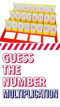 Looking for a fun and engaging game to build those multiplication facts ? Guess the Number is just what you are looking for . Kindergarten Teachers, Teacher Pay Teachers, Multiplication Practice, Co Teaching, Early Math, Primary Maths, Third Grade Math, Math Practices, Core Collection