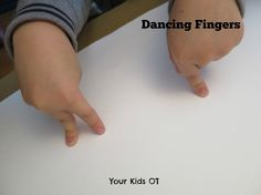 Dancing Fingers! Heavy Work finger games to warm up! Your Kids OT