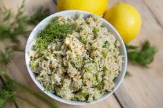 Salade de saumon, aneth et citron Snack Recipes, Snacks, Potato Salad, Grains, Potatoes, Healthy, Ethnic Recipes, Food, Dinners