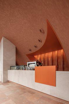 Bistro Interior, Restaurant Interior Design, Architecture Restaurant, Interior Architecture, Coffee Shop Counter, Leaflet Design, Counter Design, Cafe Design, Store Design