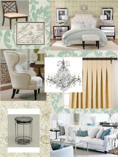 like the white chair in a different color and the headboard