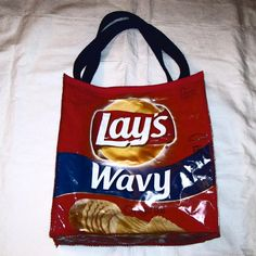 Your place to buy and sell all things handmade Feed Bags, Chip Bags, Potato Chips, Sewing Crafts, Totes, Snack Recipes, Potatoes, Reusable Tote Bags, Lunch