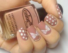 Nude Polka Dots & Bows