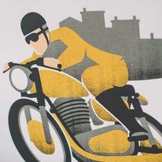 Doublenaut x Town Moto Poster - Gold Moto