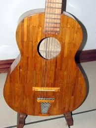 Playable guitar made with popsicle sticks