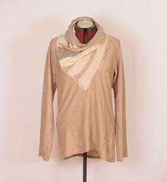 Desigual i womens beige long sweater jumper tunic fall autumn Long Sweaters, Jumper, Tunic, Beige, Autumn, Women, Fashion, Moda, Tunics