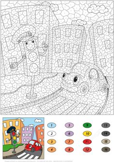 Traffic Light and Funny Car Color by Number from Color by Number Worksheets category. Select from 31983 printable crafts of cartoons, nature, animals, Bible and many more. Printable Crafts, Free Printables, Color By Number Printable, Fall Coloring Pages, Frog Art, Color By Numbers, Car Colors, Traffic Light, Free Printable Coloring Pages