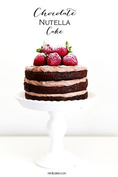 """My mother taught me at a very young age that """"less is always more"""" and that seemed to stick with me. That may be the reason why I'm so obsessed with naked cakes. They are simple, rustic, beautiful and"""