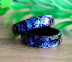verlobungsring schwarz Opal ring engagement promise black resin boho minimalist jewelry big size ring birthstone bands rings for women unique Valentines day gifts Black Opal Ring, Rose Gold Diamond Ring, Gold Diamond Wedding Band, 14k Gold Ring, Black Rings, Resin Ring, Resin Jewelry, Craft Jewelry, Jewelry Rings